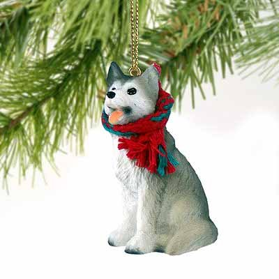 Conversation Siberian Husky Tiny Miniature One Christmas ...