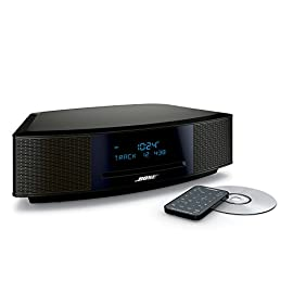 Bose Wave Music System IV - Espresso Black 66 Lifelike, room-filling sound with breakthrough waveguide technology Fresh, updated design, exclusive waveguide speaker technology delivers high-performance sound CD/MP3 CD player; advanced AM/FM tuner; text display of song information