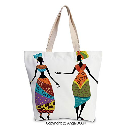 SCOXIXI African Woman Reusable Eco-friendly Shopping Shoulder bag Tribal Ladies -