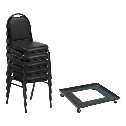 (Norwood Commercial Furniture 250 Series Stack Chairs & Dolly Package, NOR-NCFDSC2BLBLV-DY81-PK (24 Chairs w/ 1 Dolly))