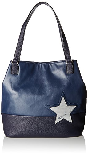 Mustang Kansas Cindy Shopper Xlvo, Borse Tote Donna Blu (Dark Blue)