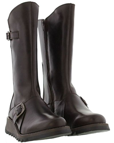 Fly London Women's Fly London Mes 2 Mid Calf Wedge Dark Brown Boot Dark Brown tQhDnLfh