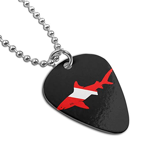 WAY.MAY Shark Diver Scuba Guitar Pick Necklace Pendant Dog Tag Pet Card Keychain