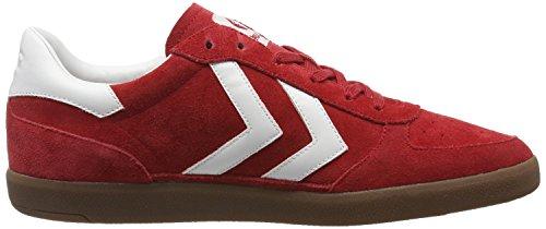 Hummel Victory, Sneakers Basses Mixte Adulte, Bleu Clair/Blanc, 42 EU Rouge (Ribbon Red)