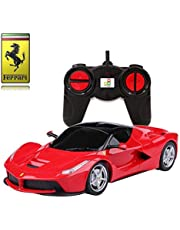 Ferrari LaFerrari Remote Control Car – 1:24 Scale Ferrari Model – PL613 Official Ferrari F150 Electric RC Remote Control Cars – RTR, EP – (Red) 27Mhz