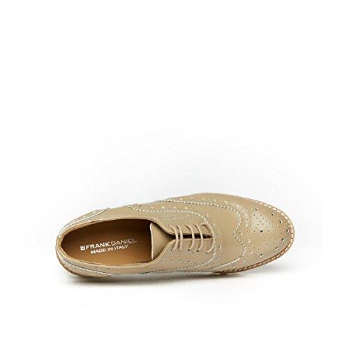 Cordones Piel Daniel Mujer Topo Zapatos Oxford Para Beige Frank de de gwUqfIxax