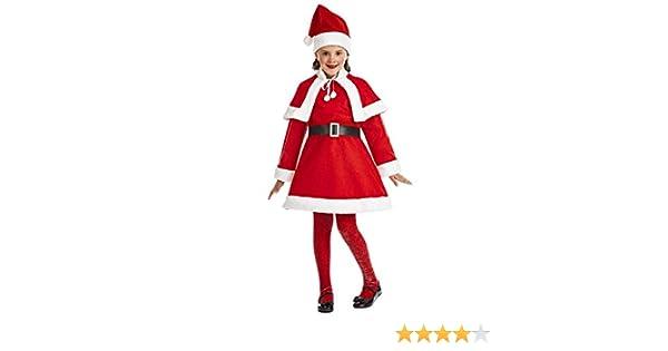Disfraz de Santa Claus para niña: Amazon.es: Juguetes y juegos
