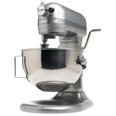 KitchenAid RKP26M1XMC Professional 600 Series Bowl-Lift Stand Mixer, 6 Quart, Metallic Chrome (Renewed)