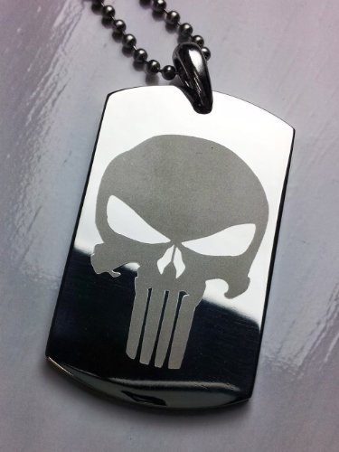 Punisher Skull Stainless Pendant Necklace