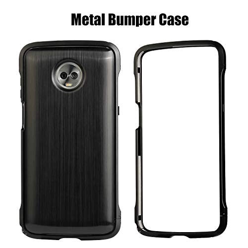 HikerClub Moto Z3 Play Case, Moto Z3 Play Metal Bumper Luxury Aluminum Alloy Frame Compatible with Mods Shockproof Protective Case for Motorola Moto Z3 Play 2018 Release (Black)