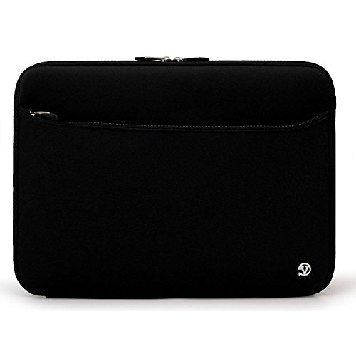 Vangoddy Jet Black Durable Neoprene Protective Laptop Sleeve Cover for HP EliteBook Notebook 12.5 inch Model 2560p / 2570p / 2760p + SumacLife TM Wisdom Courage Wristband