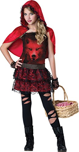 InCharacter Costumes Twen Girls Red In The Hood Costume, Red/White, Medium