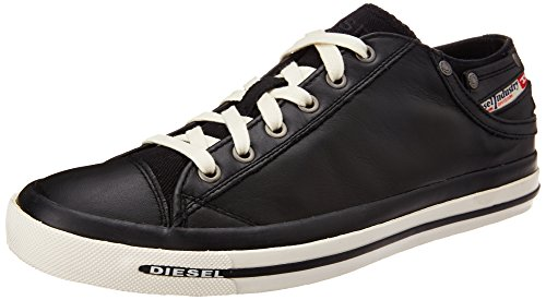 (Diesel Men's Exposure Low I Sneaker, Black, 12 M US)