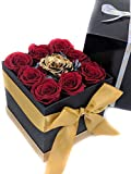 Forever Monroe's 9 Preserved Roses in a Box, Roses that last a year, Personalized Anniversary Gift for her
