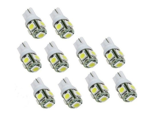 MicTuning 10X T10 194 168 W5W 5 SMD 5050 White LED Car Wedge Tail Side
