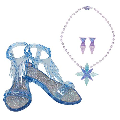 Disney Frozen 2 Elsa The Snow Queen Accessory Set, Includes Shoes, Earrings & Necklace – Perfect for Costume Dress-Up or Pretend Play
