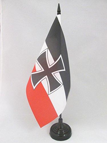 AZ FLAG German Jack Table Flag 5'' x 8'' - Army of Germany Desk Flag 21 x 14 cm - Black Plastic Stick and Base ()
