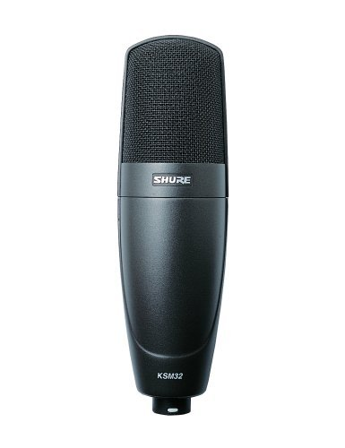 Shure KSM32/CG Embossed Single-Diaphragm Cardioid Condenser Stage Microphone, Charcoal Grey ()