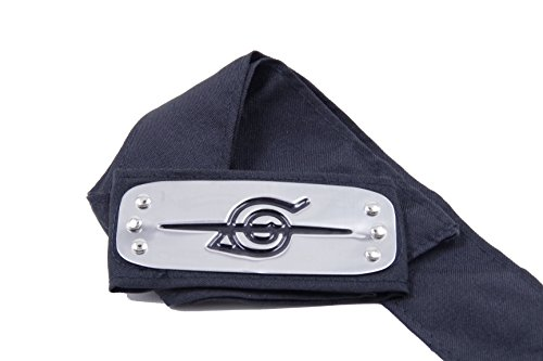 [Naruto Konoha Village Ninja Shinobi Cosplay Headband / Forehead Protector (Anti-Ninja, Black)] (Konoha Shinobi Costume)