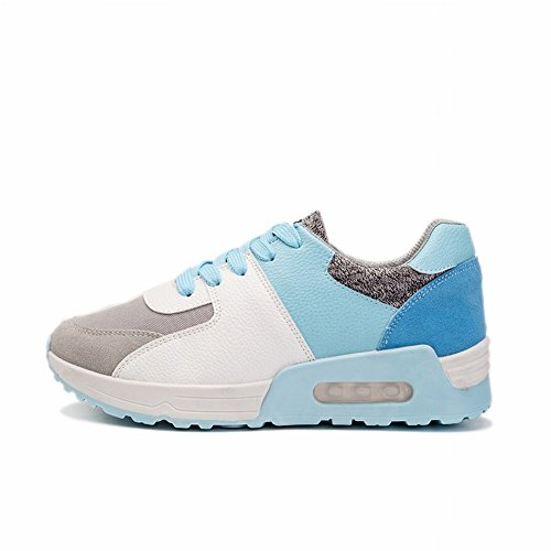 Deportivos Color Estudiantes Ocio Cojín Zapatillas azul Mujeres Zapatos Zapatos Mujeres Lucha Aire EUR35 XtHq8awX