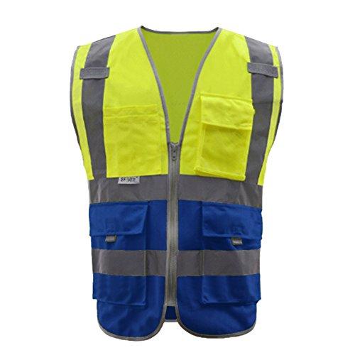 GOGO SECURITY 8 Pockets Hi Vis Safety Vest-Blue-L by GOGO (Image #8)