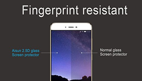xiaomi Redmi4 Screen Protector, Aisun Full Coverage Best Protection, Full Coverage Tempered Glass, Anti Glare, Anti Shatter, Easy to Install![Special] Buy1 and get the second 40% off ! (White)