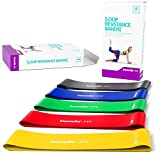 Resistance Bands Set Exercise Bands - Workout Bands Stretch Bands - Light Medium Heavy Loop Bands Kit for Legs Butt Glutes Yoga Crossfit Fitness Physical Therapy Home Equipment Training for Women Men…