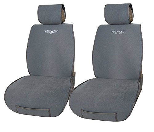 velour with leather trim 2 front car seat cover cushions audi q5 801 gray buy online in uae. Black Bedroom Furniture Sets. Home Design Ideas