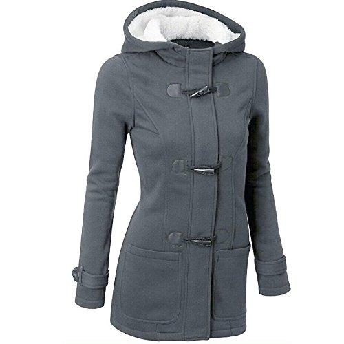 Parka Capucha Casual Gris oscuro con Chaqueta Sudadera Jacket Abrigo de Lana Mujer Invierno Capa Ropa Logobeing Pullover wq0O4FO