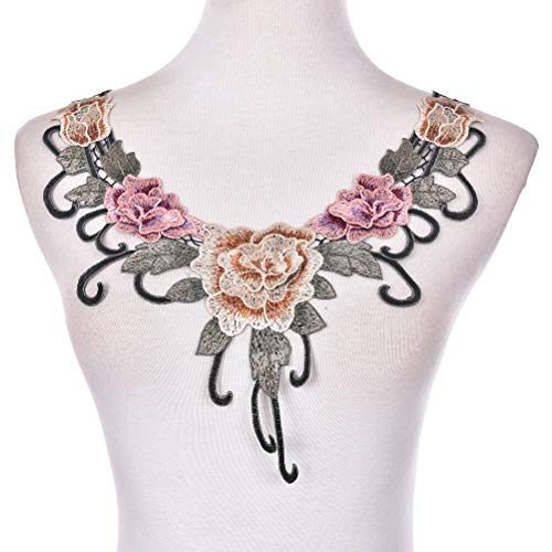 - Lace Embroidered Venise Neckline Neck Collar Trim Clothes Sewing Appliqu 0t (Style - CL789)