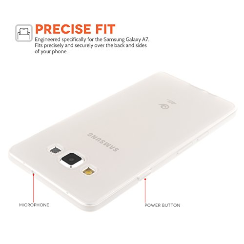 Yousave Accessories Samsung Galaxy A7 Case Clear Silicone Gel Cover And Micro USB Cable