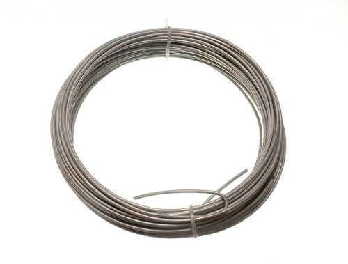 GALVANISED GARDEN FENCE WIRE 2 MM 20 METRES ( 1 roll 500g in weight )