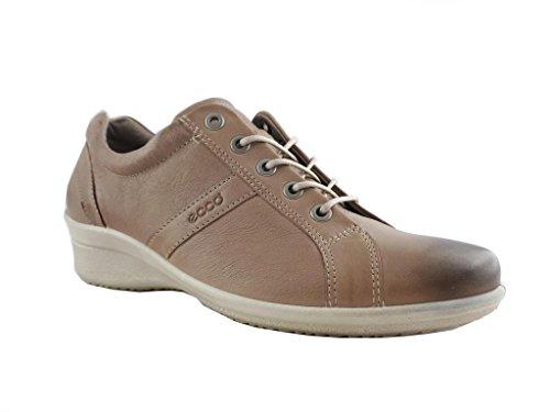 39 Pelle Liscia Sneaker Allacciata tortora In Ecco Donna qfnYSw6F