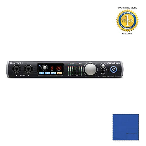 (Presonus Quantum 2 22x24 Thunderbolt Audio Interface with Microfiber and 1 Year Everything Music Extended)