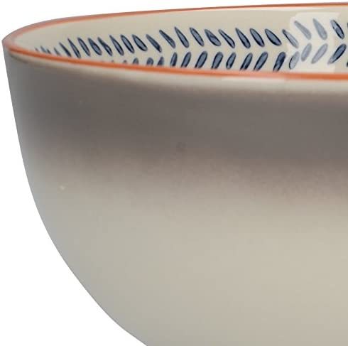 Blue//White Set of 4 15.3 cm Creative Tops Drift Ombre Ceramic Cereal Bowls