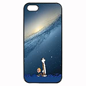 Nature Cartoons Calvin And Hobbes Custom Image Case iphone 4 case , iphone 4S case, Diy Durable Hard Case Cover for iPhone 4 4S , High Quality Plastic Case By Argelis-sky, Black Case New