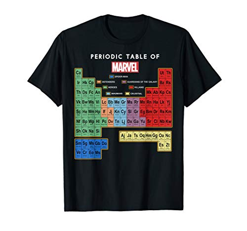Marvel Ultimate Periodic Table Of Elements Graphic T-Shirt T-Shirt