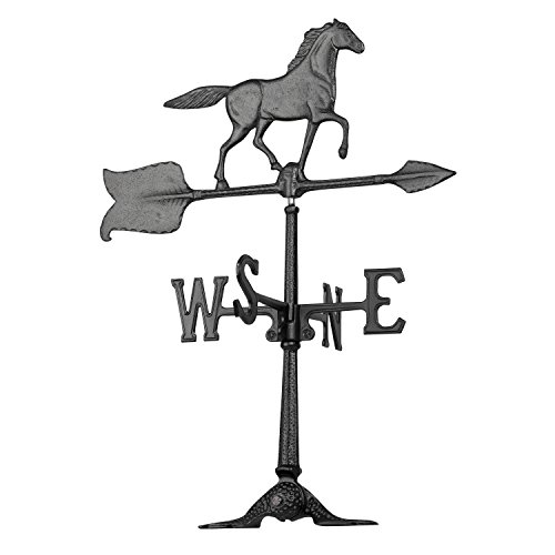 Large Horse Weathervane - Whitehall Products Horse Accent Weathervane, 24-Inch, Black
