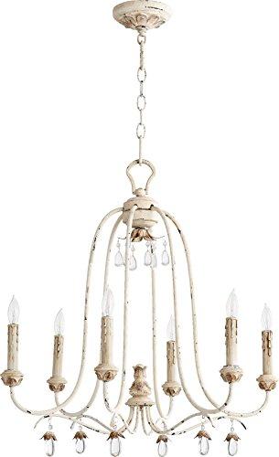 Quorum Lighting 6144-6-70, Venice 1 Tier Chandelier Lighting, 6LT, 120 Watts, Persian White