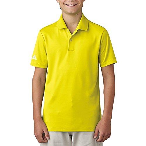adidas Golf Boys ADI Performance Polo Shirt, Vivid Yellow, Large