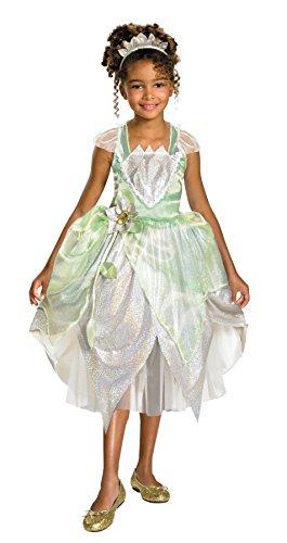 Girls Disney Princess Tiana Kids Child Fancy Dress Party Halloween Costume, (Tiana Halloween Costumes)