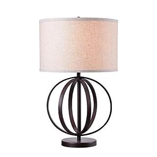 Kenroy Home 35223OBWDG Woodward Table Lamps, Oxford Brown Wood Grain