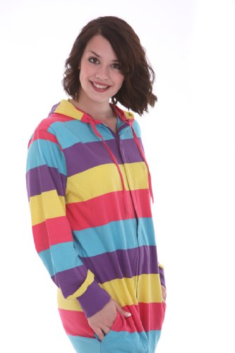 Einteiliger Schlafanzug, Festival Funzee Onesie Pyjama, Schlafoverall, Jumpsuit, Erwachsenenstrampler, Einteiler in körpergrößenabhängigen Unisexgrößen XS-XXL