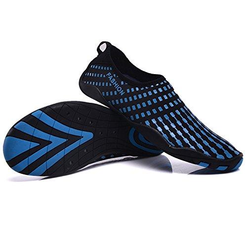 Wassersport Aquaschuhe Damen Freien Herren Familienaktivitäten C im Wasserschuhe Schuhe Schwimmschuhe Blau Atmungsaktiv für Kinder SITAILE wqYIYU