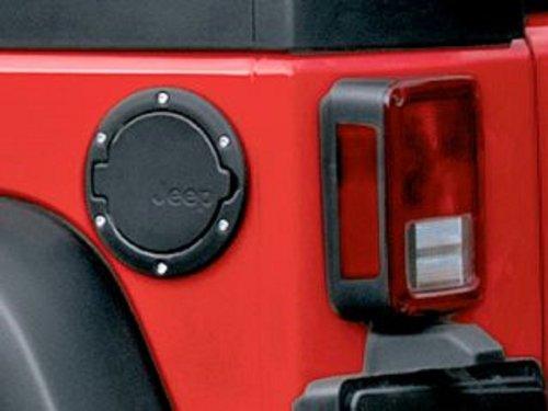 (Mopar 82210609AC  2007 - 2016 Jeep Wrangler Satin Black Fuel Filler Door)