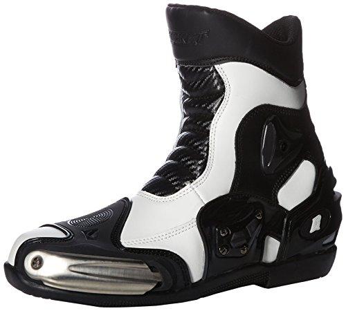 (Joe Rocket Men's Superstreet Boots (White, Size 8))
