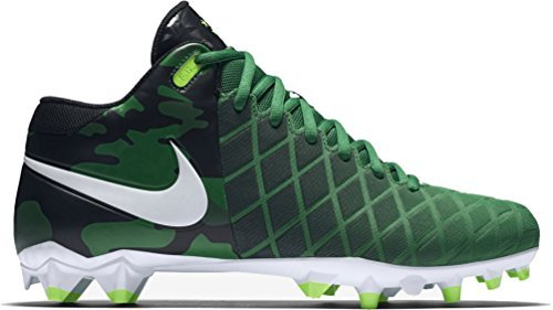 Nike Mens Field General Pro TD Football Cleats (10, Pine Green/White-Black-Electric Green) - Field Mens Football Cleat
