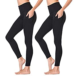 Gayhay High Waist Yoga Pants with Pockets for Women – Tummy Control Workout Running 4 Way Stretch Yoga Leggings