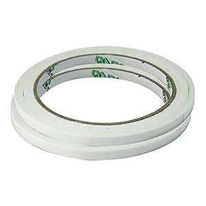 2 Rollos Cinta Adhesiva Doble Cara Accesorio para Escuela Oficina 6mm x 18m
