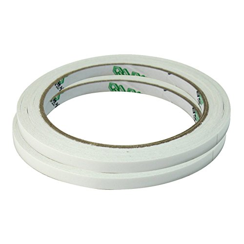 2 Rolls of Double Sided Faced Strong Adhesive Tape fo Office School Supplies 6mm ()